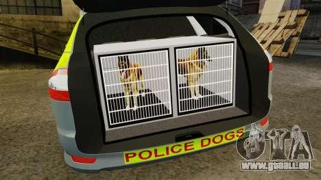 Ford Mondeo Metropolitan Police [ELS] für GTA 4 Seitenansicht
