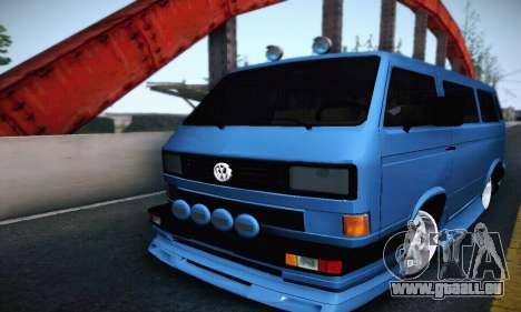 Volkswagen Transporter T2 Tuning pour GTA San Andreas vue arrière