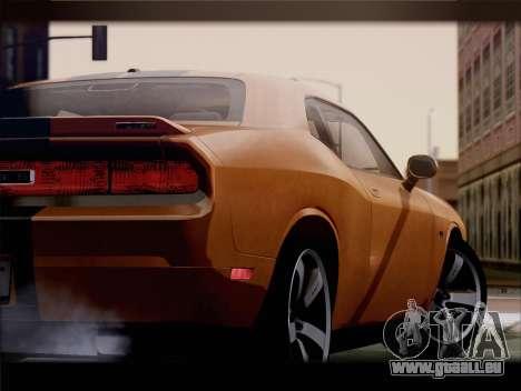 Dodge Challenger SRT8 2012 HEMI für GTA San Andreas Rückansicht
