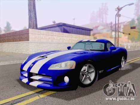 Dodge Viper SRT-10 Coupe pour GTA San Andreas laissé vue