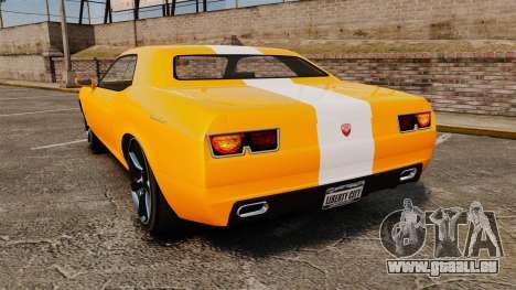 GTA V Gauntlet 450cui Turbocharged pour GTA 4 Vue arrière de la gauche
