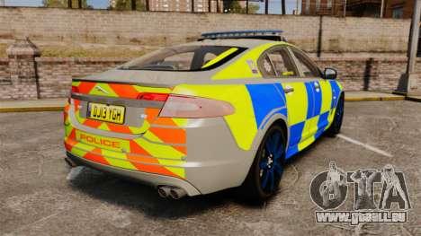 Jaguar XFR 2010 West Midlands Police [ELS] für GTA 4 hinten links Ansicht