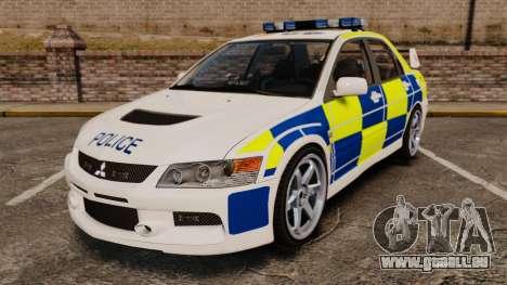Mitsubishi Lancer Evolution IX Police [ELS] für GTA 4
