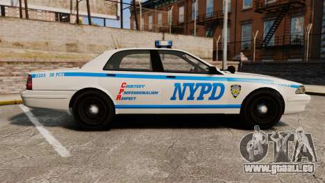 GTA V Vapid Police Cruiser NYPD für GTA 4 linke Ansicht