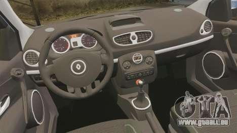 Renault Clio III Phase 2 pour GTA 4 est une vue de l'intérieur