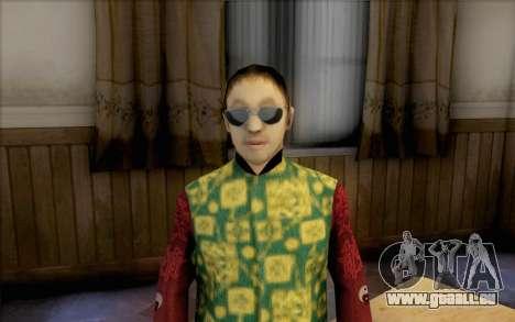 Mec asiatique pour GTA San Andreas troisième écran