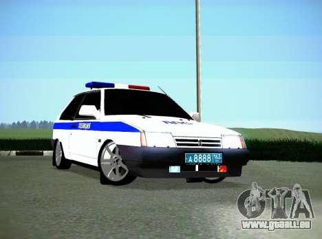 VAZ 2108 DPS pour GTA San Andreas laissé vue