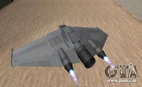 StarGate F-302 pour GTA San Andreas laissé vue
