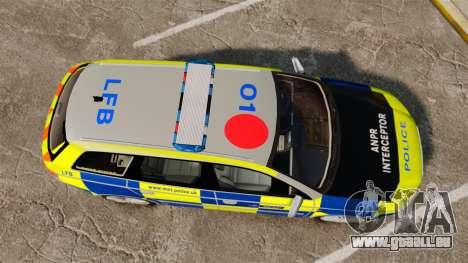 Audi S4 Avant Metropolitan Police [ELS] für GTA 4 rechte Ansicht