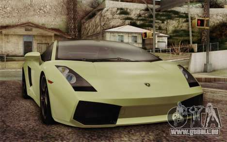 Lamborghini Gallardo SE für GTA San Andreas Rückansicht