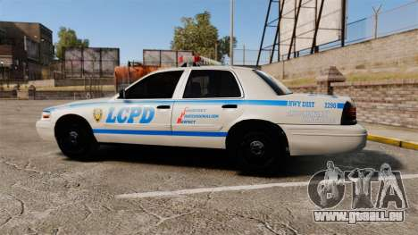 Ford Crown Victoria LCPD [ELS] für GTA 4 linke Ansicht