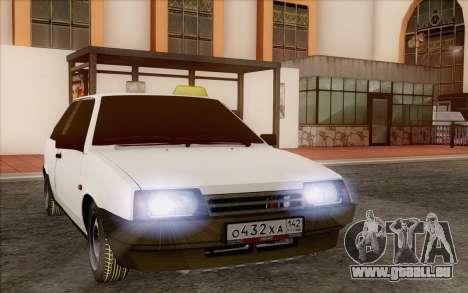 VAZ 2108 Taxi pour GTA San Andreas vue arrière