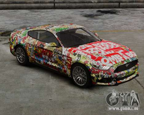 Ford Mustang GT 2015 Sticker Bombed pour GTA 4 Vue arrière de la gauche