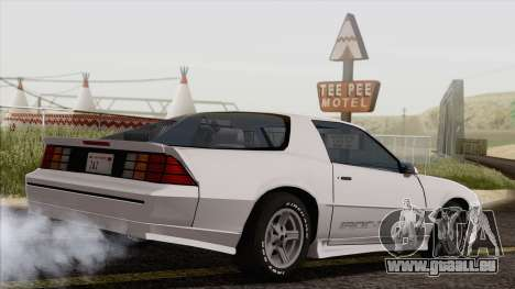 Chevrolet Camaro IROC-Z 1989 FIXED pour GTA San Andreas laissé vue