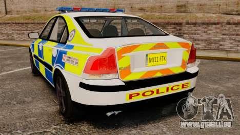 Volvo S60R Police [ELS] pour GTA 4 Vue arrière de la gauche