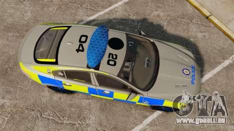 Jaguar XFR 2010 West Midlands Police [ELS] für GTA 4 rechte Ansicht