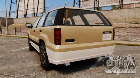 GTA V Canis Seminole pour GTA 4 Vue arrière de la gauche