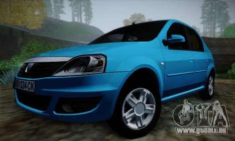 Dacia Logan pour GTA San Andreas vue de dessus