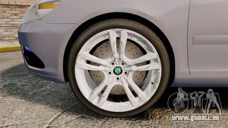 Skoda Octavia RS Unmarked Police [ELS] für GTA 4 Rückansicht