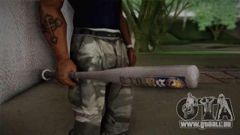 Batte de baseball de GTA 5 pour GTA San Andreas troisième écran
