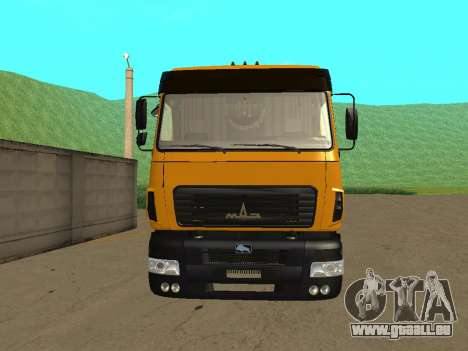 MAZ 6312A8 pour GTA San Andreas vue de droite