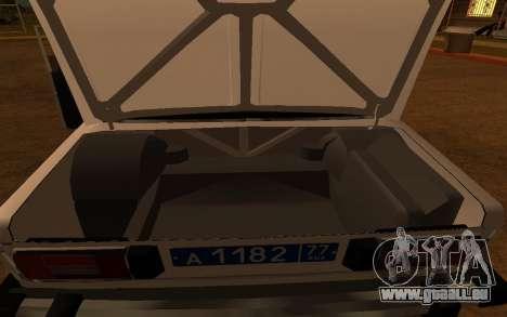 VAZ 2106 DPS für GTA San Andreas Innenansicht