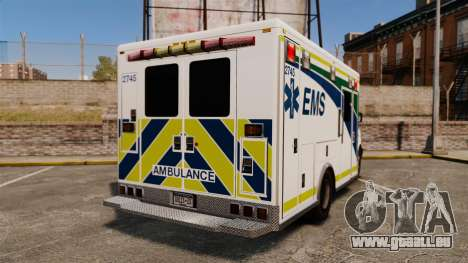 Brute Alberta Health Services Ambulance [ELS] pour GTA 4 Vue arrière de la gauche