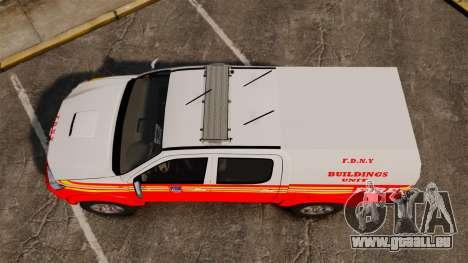 Toyota Hilux FDNY v2 [ELS] für GTA 4 rechte Ansicht