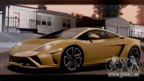 Lamborghini Gallardo LP560-4 Coupe 2013 V1.0 pour GTA San Andreas vue de dessous