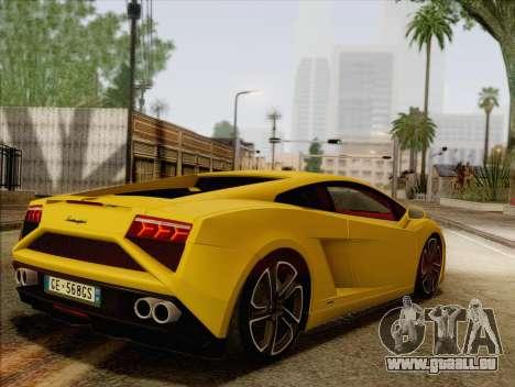 Lamborghini Gallardo 2013 pour GTA San Andreas laissé vue
