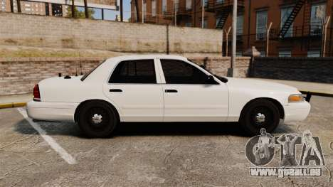 Ford Crown Victoria 1999 Unmarked Police pour GTA 4 est une gauche