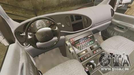 Ford E-350 LCFR [ELS] für GTA 4 Rückansicht
