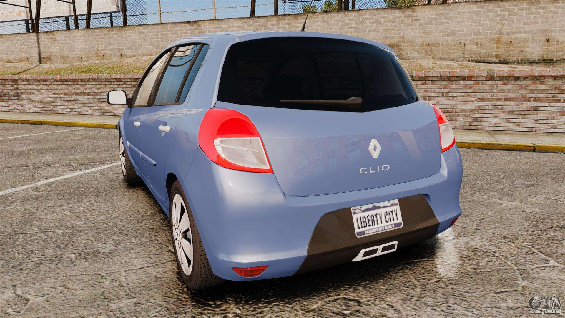 renault clio iii phase 2 pour gta 4. Black Bedroom Furniture Sets. Home Design Ideas