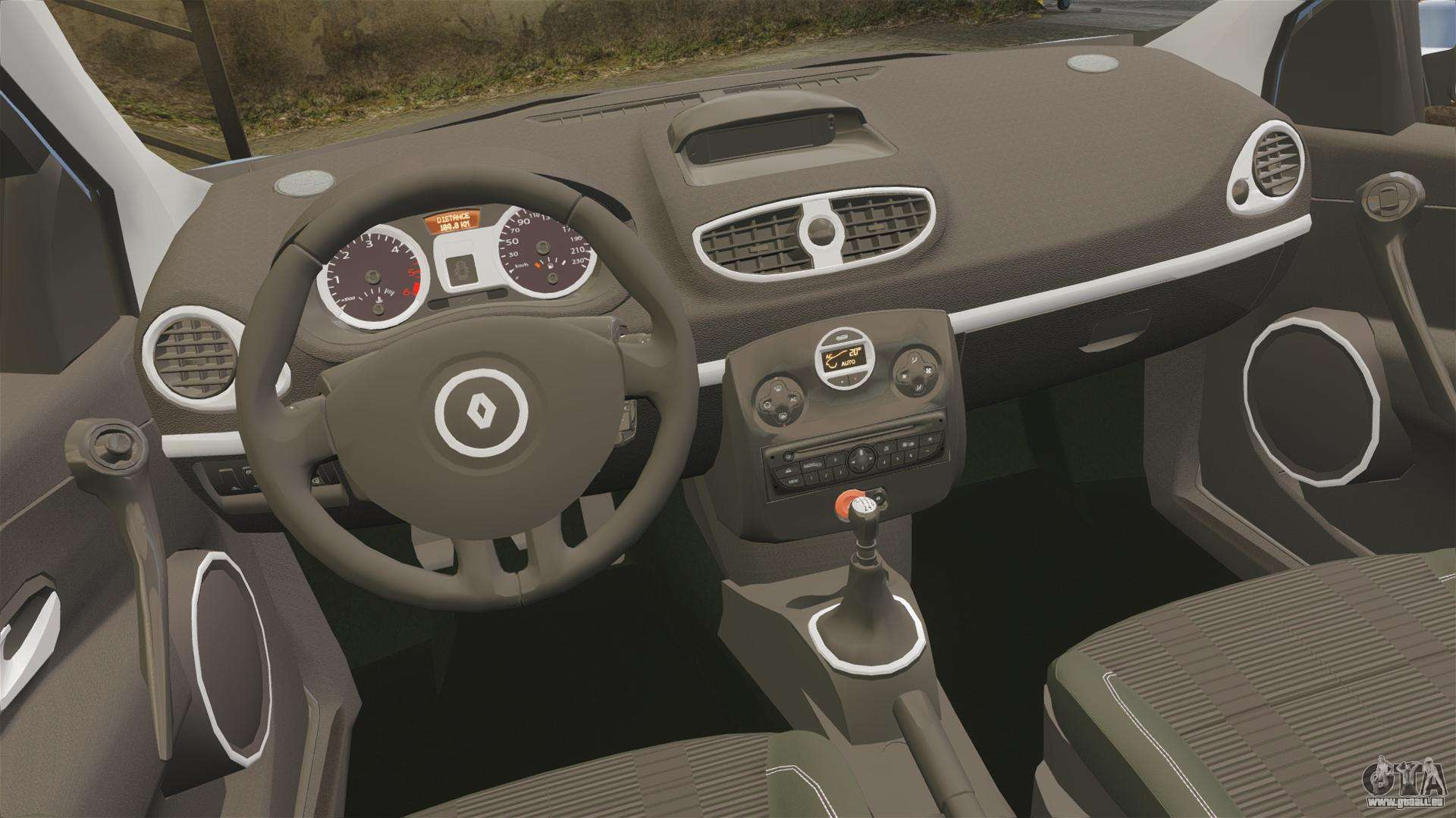 Renault clio iii phase 2 pour gta 4 for Renault clio 4 interieur