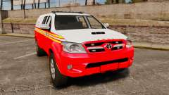 Toyota Hilux FDNY v2 [ELS] pour GTA 4