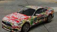 Ford Mustang GT 2015 Sticker Bombed