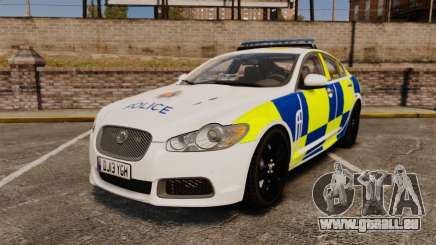 Jaguar XFR 2010 Police Marked [ELS] pour GTA 4
