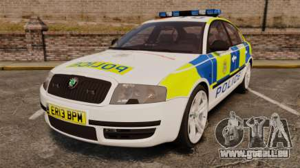 Skoda Superb 2006 Police [ELS] Whelen Edge für GTA 4