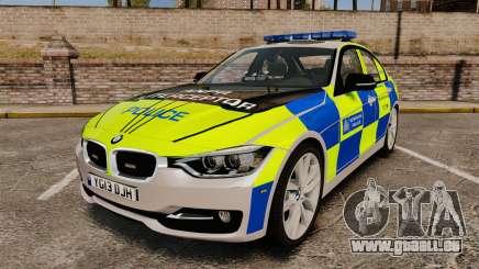 BMW F30 328i Metropolitan Police [ELS] pour GTA 4