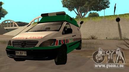 Mercedes-Benz Vito Ambulancia ACHS 2012 pour GTA San Andreas