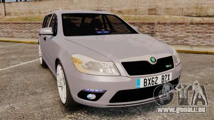 Skoda Octavia RS Unmarked Police [ELS] pour GTA 4