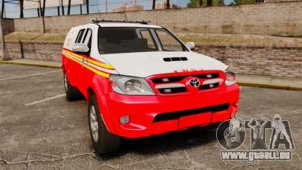 Toyota Hilux FDNY v2 [ELS] für GTA 4