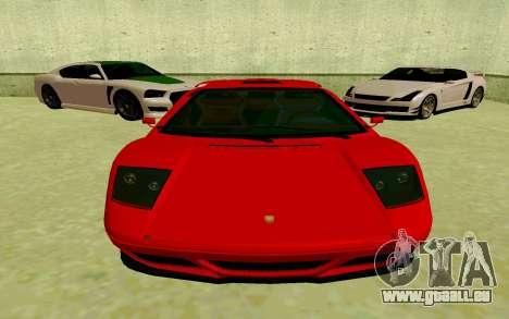 GTA V Pegassi Infernus pour GTA San Andreas laissé vue