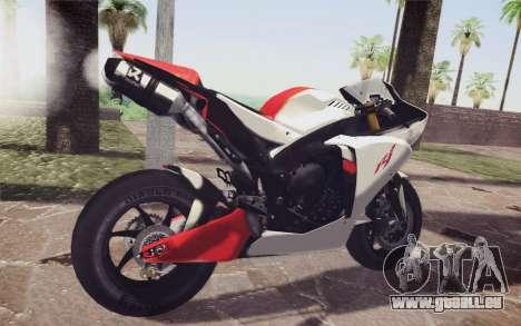 Yamaha YZF R1 pour GTA San Andreas sur la vue arrière gauche