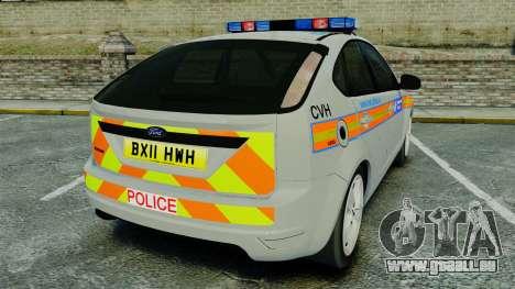 Ford Focus Metropolitan Police [ELS] für GTA 4 hinten links Ansicht