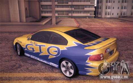 Pontiac GTO 2005 für GTA San Andreas Unteransicht