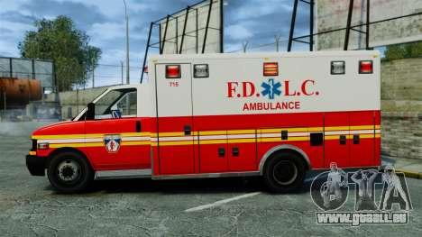 Brute FDLC Ambulance [ELS] für GTA 4 linke Ansicht