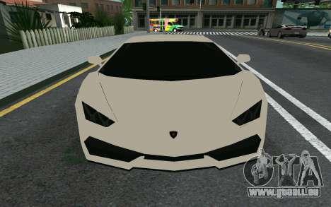 Lamborghini Huracane LP610-4 pour GTA San Andreas laissé vue