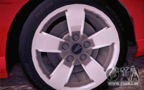 Pontiac GTO 2005 pour GTA San Andreas vue intérieure