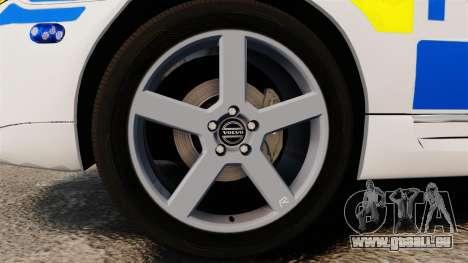 Volvo V70 II Swedish Police [ELS] pour GTA 4 Vue arrière